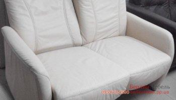 Кожаный релакс диван с регулируемыми спинками и подголовником