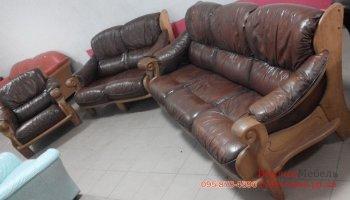Комплект кожаных диванов с креслом 3+2+1