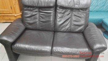 Кожаный релакс диванчик