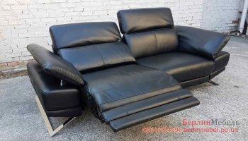 Кожаный диван реклайнер в стиле Хай Тек