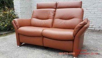 Кожаный двухместный диван реклайнер