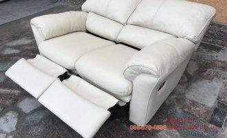 Двухместный кожаный диван реклайнер