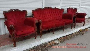 Комплект мебели Барокко 3+1+1