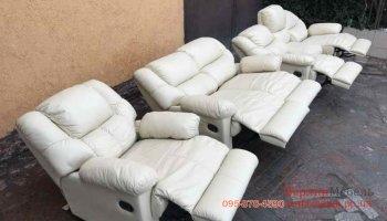 Кожаная мебель 3+2+1 реклайнеры