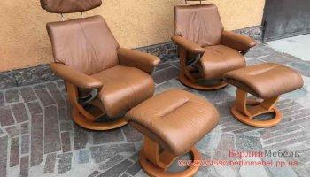 Кожаное кресло реклайнер 1+1