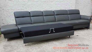 Кожаный  диван мега размер