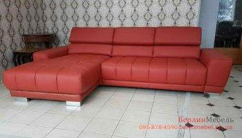 Кожаный диван на угол