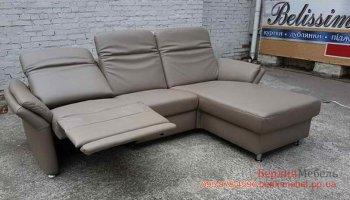 Кожаный угловой диван электореклайнер