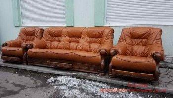 Набор кожаной мебели 3+1+1