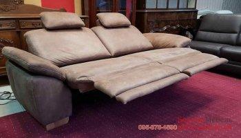 Двухместный диван реклайнер нубук