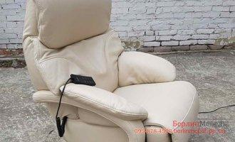 Кожаное кресло электро реклайнер