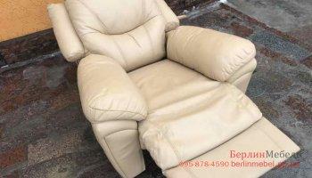 Кожаное кресло релакс