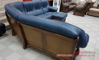 П-образный кожаный диван