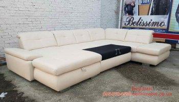 Раскладной кожаный диван в угол