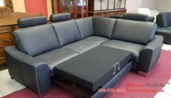 Раскладной угловой  диван нубук