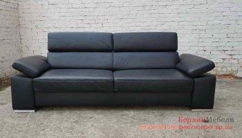 Трехместный кожаный диван Хай Тек