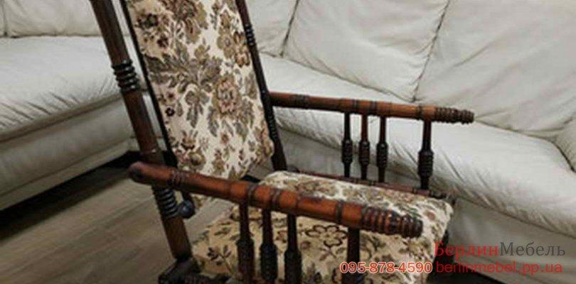 деревянное кресло качалка бу
