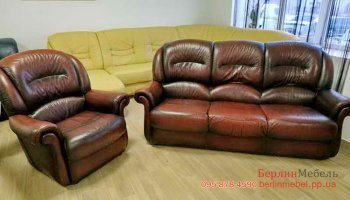 Комплект кожаной мебели 3+1