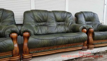 Комплект кожаной мебели 3+2+1