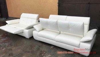 Комплект кожаных диванов релакс