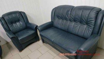 Кожаный набор мебели  2+1