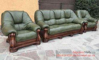 Кожаный набор мебели 3+1+1