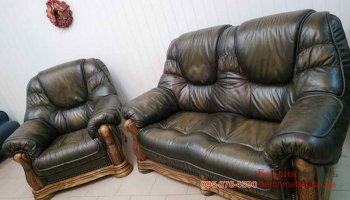 Набор кожаной мебели 2+1