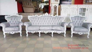 Набор кожаной мебели 3+1+1 Барокко