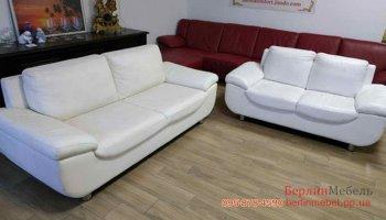Набор кожаных диванов 3+2