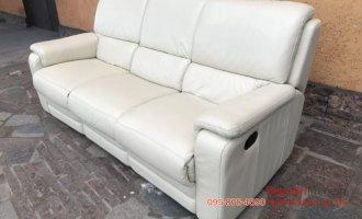Набор кожаных диванов 3+2  реклайнер
