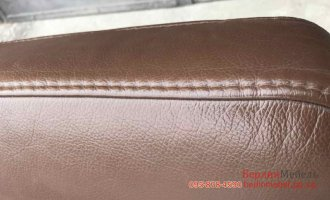 П-образный кожаный диван в угол