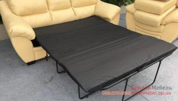 Комплект кожаной мебели 3+1 раскладной