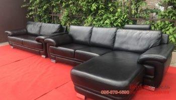 Комплект кожаных диванов