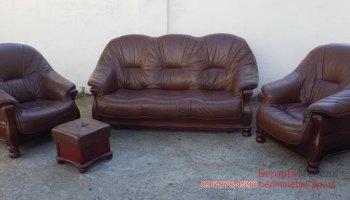 Комплект мягкой мебели 3+1+1 +пуф