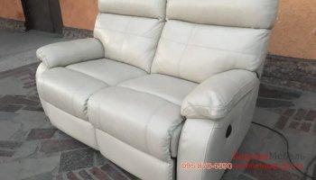 Кожаный диван электро реклайнер