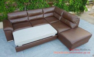 Кожаный угловой диван