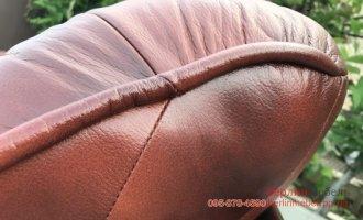 Раскладной кожаный гарнитур 3+1+1
