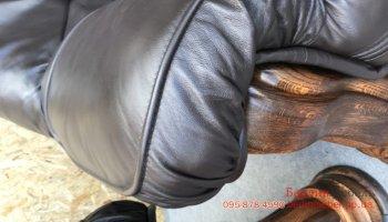 Раскладной кожаный комплект 3+1+1