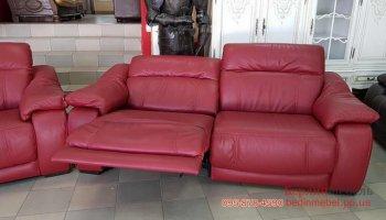 Набор кожаных диванов 3р+2 реклайнер