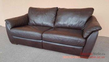 Раскладной трехместный кожаный диван