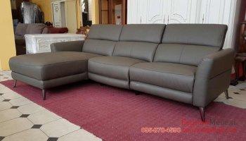 Мягкий кожаный диван в угол