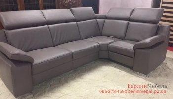 Фирменный кожаный угловой диван