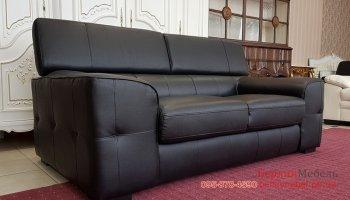 Кожаный диван двойка