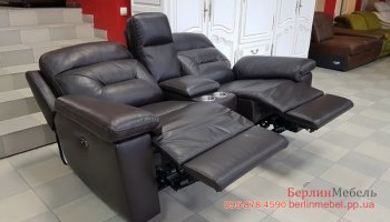 Кожаный диван Релакс для гостиной