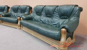 Набор кожаной мебели 3+2+1