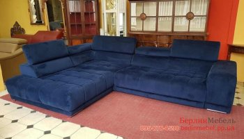 Новый угловой диван и пуф