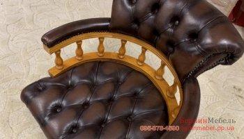 Оригинальное кожаное кресло chesterfield