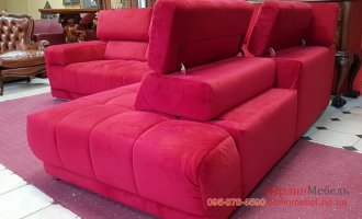 Велюровый угловой диван
