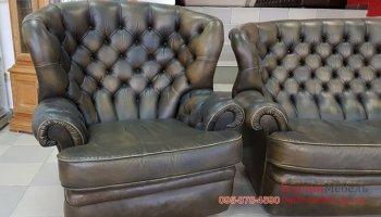 Кожаное кресло честер