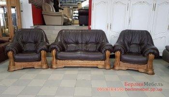 Кожаный комплект мебели 2+1+1